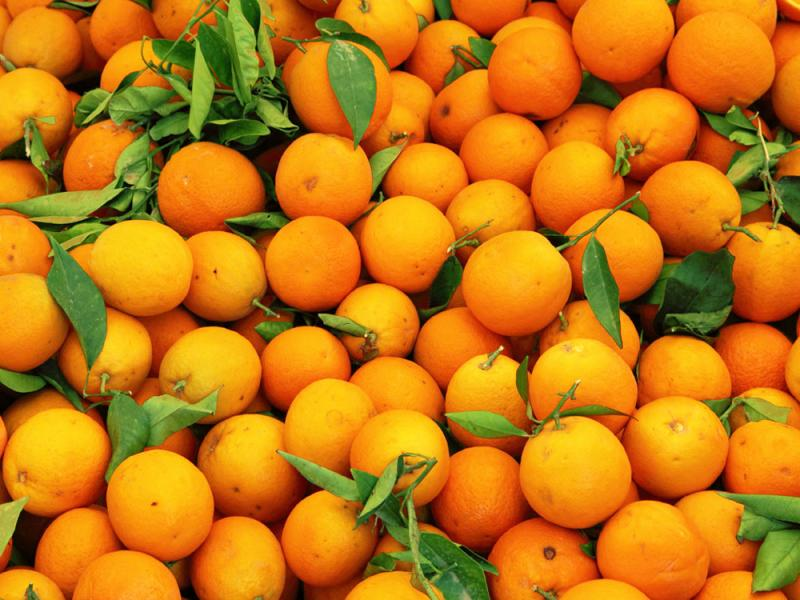 Oranges at the market in China